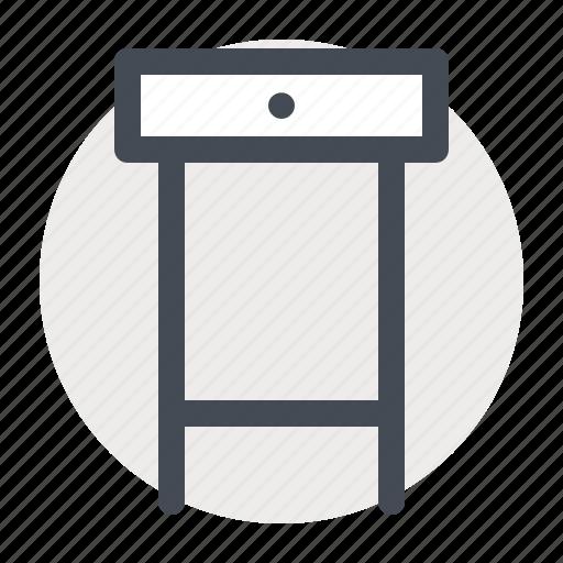 decor, design, drawer, furniture, house, interior, study table icon