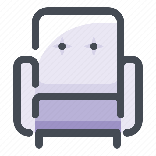 armchair, couch, decor, furniture, household, interior, seat icon