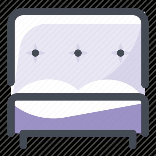 bed, couple, double, furniture, interior, room, sleep icon