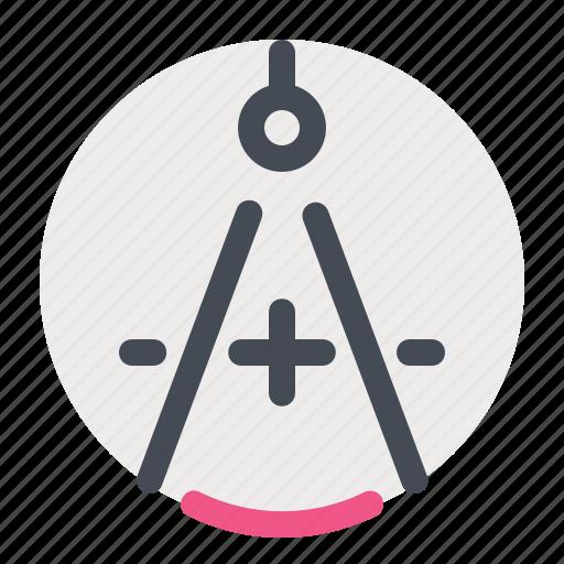 circle, compass, knowledge, rotate, school, study, university icon