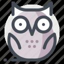 animal, knowledge, owl, school, study, teaching, university icon