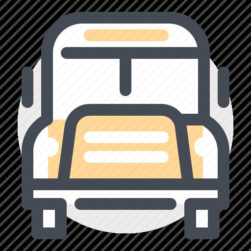 bus, knowledge, school, study, transportation, travel, university icon
