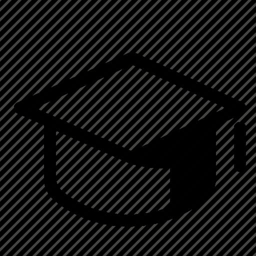 certificate, degree, graduation, hat, student, study, university icon