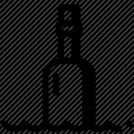 Ocean, sea, bottle, help, letter, message, sos icon - Download on Iconfinder