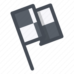 championship, checkered flag, checkpoint, competition, flag, sport, start icon