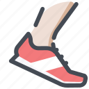 athlete, competition, play, runner, shoes, sport, sprint icon