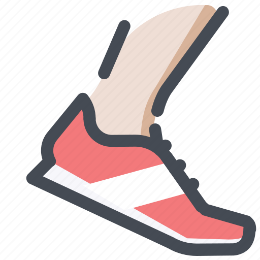 active, athlete, competition, race, runner, shoes, sprint icon