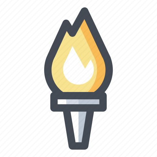 championship, competition, fire, flame, olympiad, sports, torch icon
