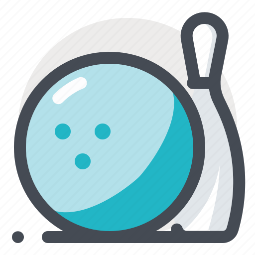 ball, bowling, championship, competition, pins, play, strike icon