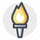 championship, competition, fire, flame, olympic, sport, torch icon