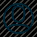 access, account, person, profile icon