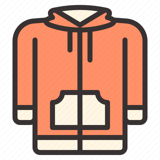 apparel, clothes, clothing, hoodie, jacket, outers icon