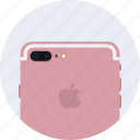 apple, camera, dual, gold, iphone7, plus, rose icon