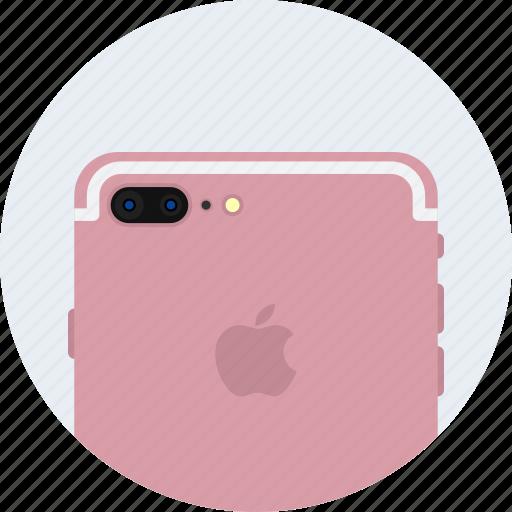 apple, camera, dual, gold, iphone7, plus, rose icon
