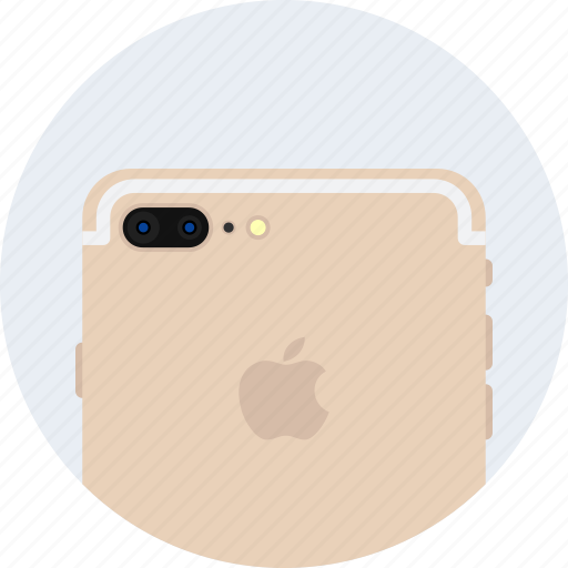 apple, camera, dual, flash, gold, iphone7, plus icon