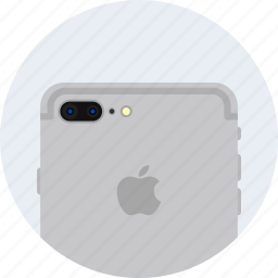 apple, camera, dual, flash, iphone7, plus, silver icon