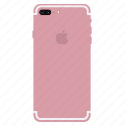 back, gold, iphone7, mobile, plus, rose, side icon