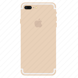 apple, back, gold, iphone7, mobile, plus, side icon