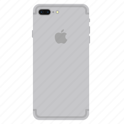 apple, back, iphone7, mobile, plus, side, silver icon