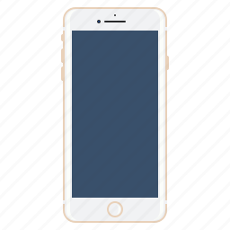 apple, front, gold, iphone7, mobile, plus, side icon
