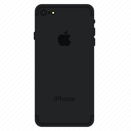 apple, back, iphone7, matt, mobile, plus icon