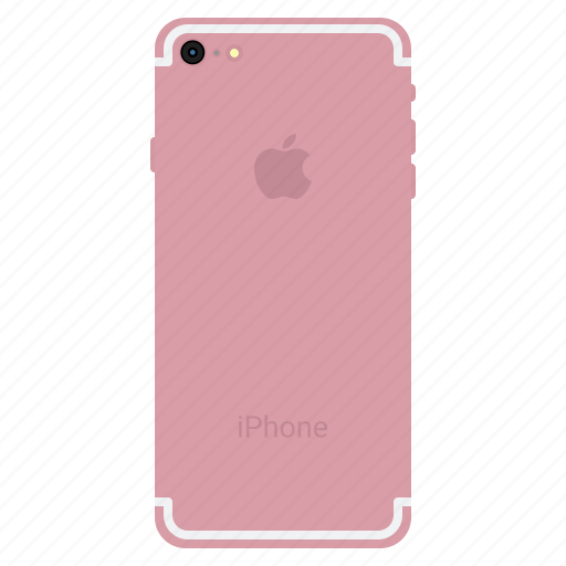 apple, back, gold, iphone7, mobile, plus, rose icon