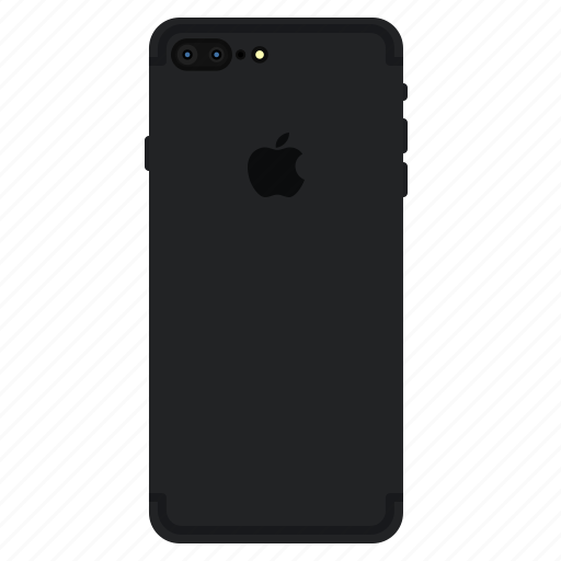 back, iphone7, matt, mobile, plus icon