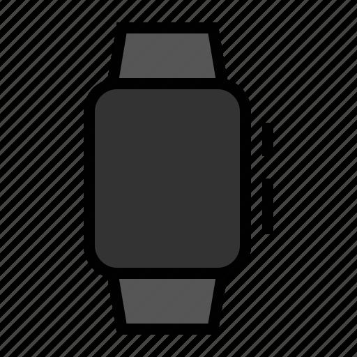 apple, blank, watch icon