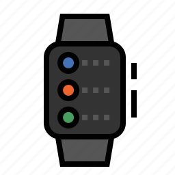 apple, context, watch icon