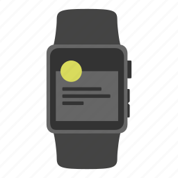 apple watch, gadget, notification, push, timepiece icon