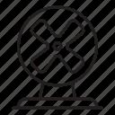 fan, ventilator, wind