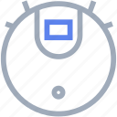 clean, cleaner, electronics, robot, vacuum icon