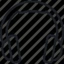 application, headphones, technology work icon