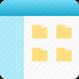 application, file browser, file explorer, window icon