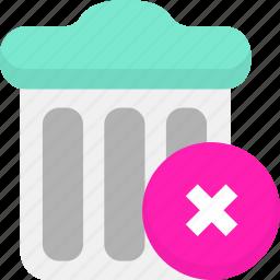 clear, delete, remove, trash icon