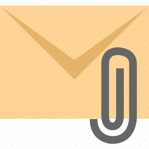 attachment, email, letter icon