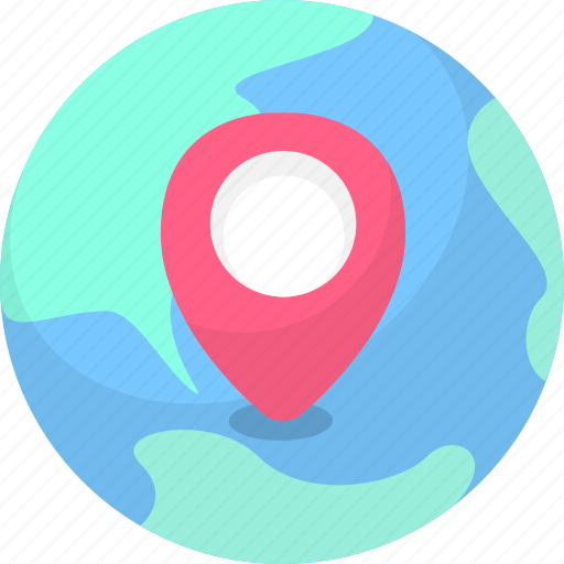 location, navigation, network location, track icon