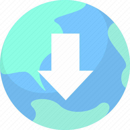download, download from internet, online download icon