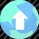 network, upload, website icon
