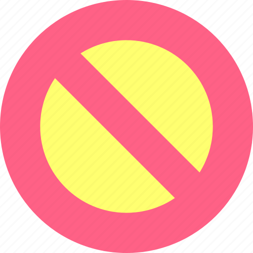 block, stop, termination icon