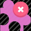 component, plugin, puzzle, remove plugin icon