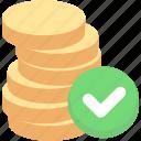 balance, cash, coin, finance, funds, money icon