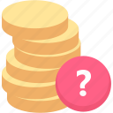 balance, cash, coin, finance, funds, money icon