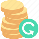 chargeback, money, refund icon