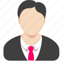 account, avatar, male, manager, profile, register icon