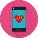 app, health, heartbeat, medicine, mobile, phone, pulse icon
