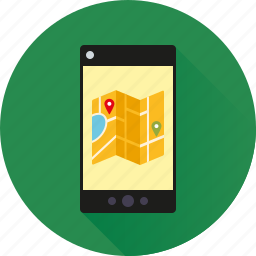 app, location, map, mobile, navigation, phone, smartphone icon