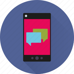 app, chat, communication, mobile, phone, speech, talking icon