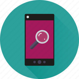 app, internet, lookup, magnifying glass, mobile, phone, search icon