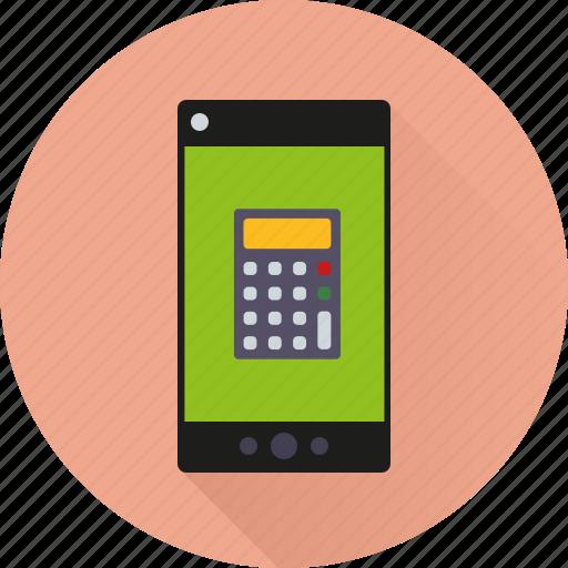 app, application, calculator, mathematics, mobile, phone, smartphone icon